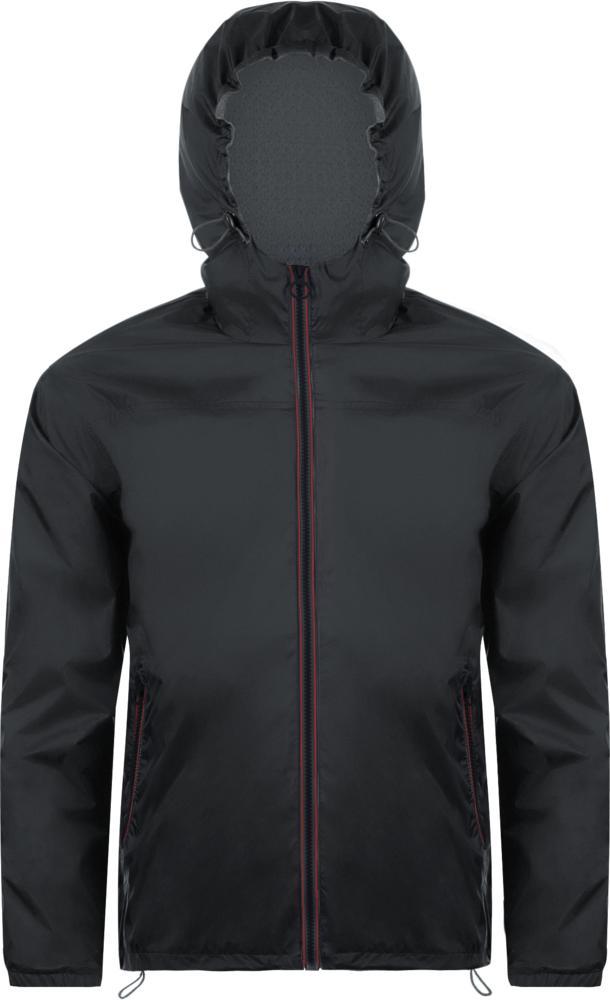 Ветровка SKATE черная с серым, размер XS