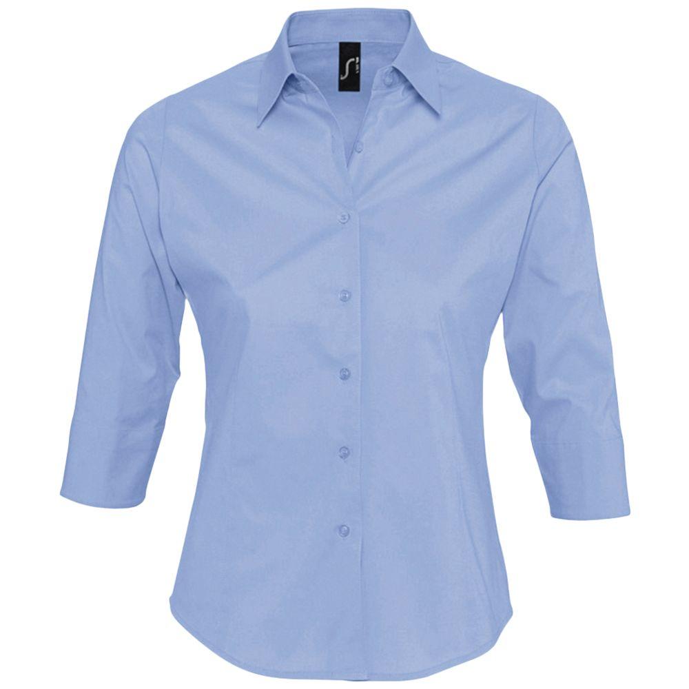 Рубашка женская с рукавом 3/4 EFFECT 140 голубая, размер L