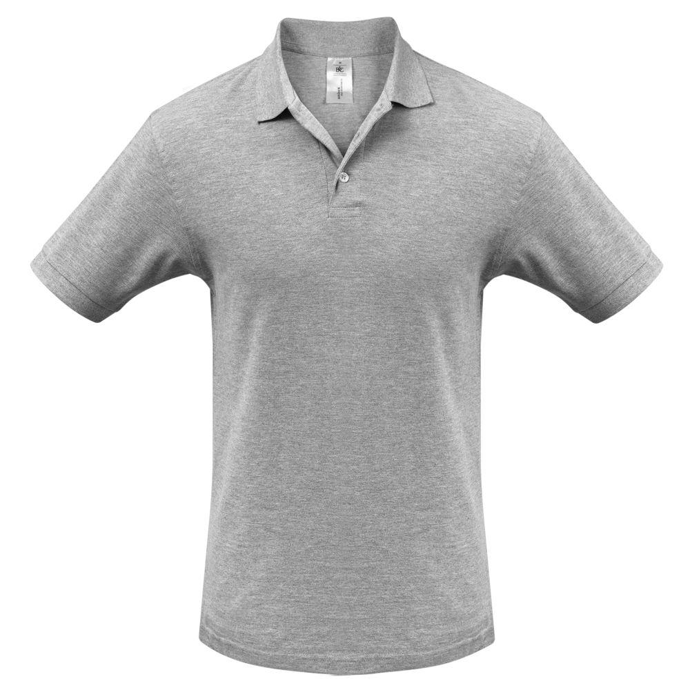 Рубашка поло Heavymill серый меланж, размер M юбка sela цвет серый меланж skk 118 887 7413 размер m 46