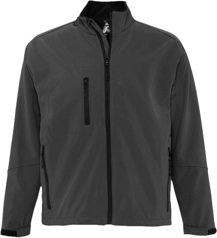 Куртка мужская на молнии RELAX 340 темно-серая, размер M куртка мужская finn flare цвет темно зеленый w18 22011 размер m 48