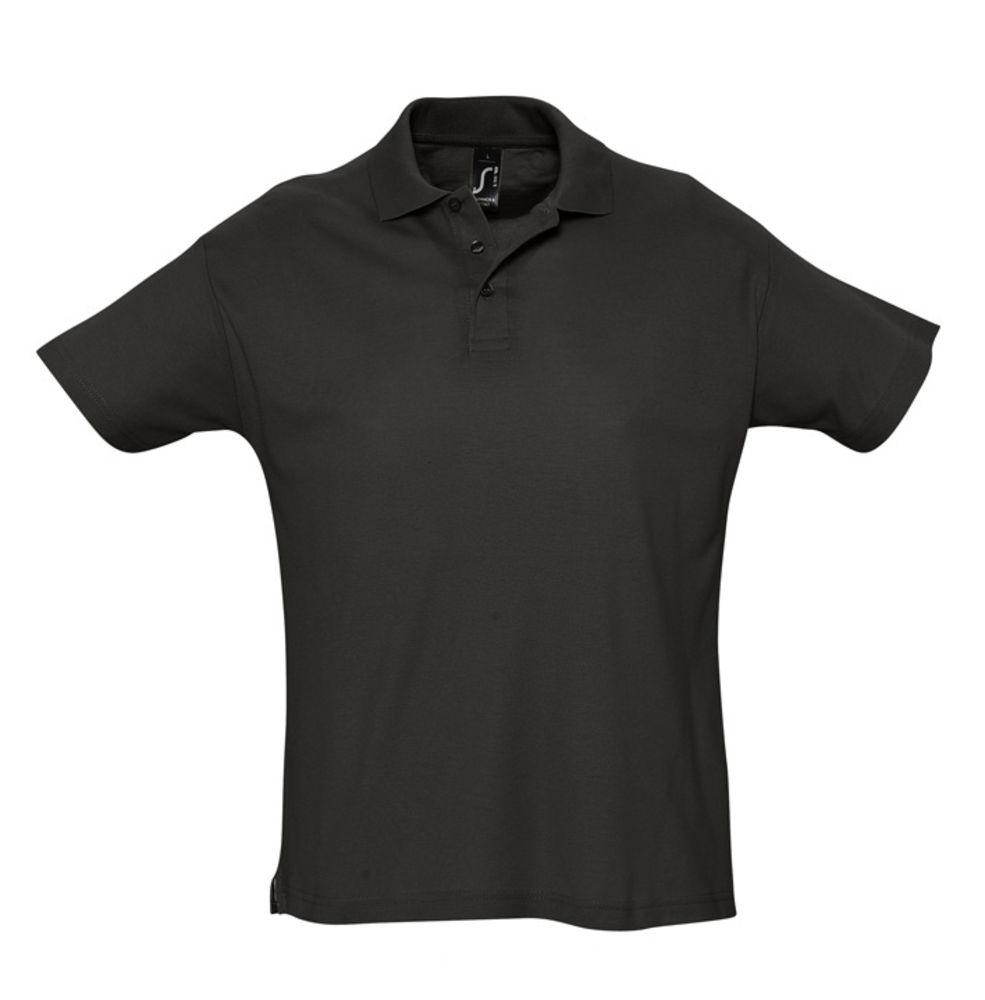 Рубашка поло мужская SUMMER 170 черная, размер XS платье oodji ultra цвет красный белый 14001071 13 46148 4512s размер xs 42 170