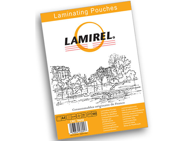 Пакетная пленка для ламинирования Lamirel A4, глянцевая, 100 мкм, шт