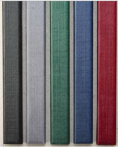 Фото - Цветные каналы с покрытием «ткань» O.CHANNEL SLIM А4 304 мм 7 мм, серый hatber бизнес блокнот лайт majestic 128 листов в клетку цвет серый 44350