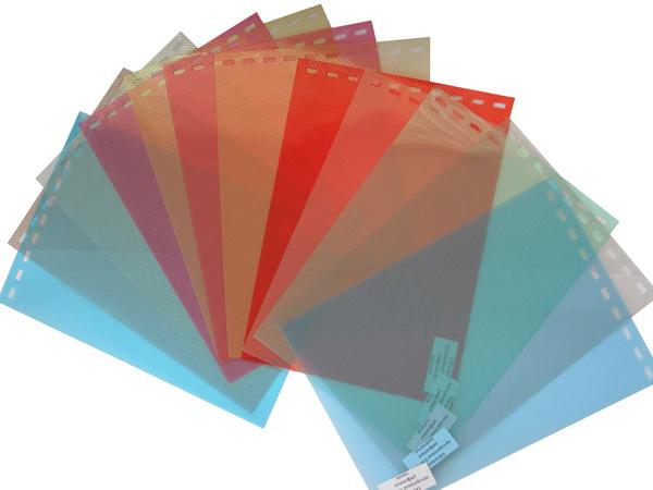 Обложки пластиковые, Рифленые (ПП), A4, 0.40 мм, Бесцветные, 50 шт