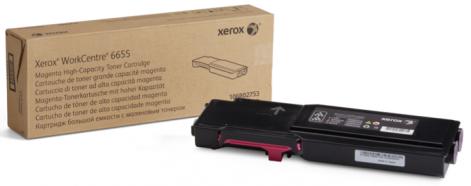 Тонер-картридж 106R02753 тонер картридж для лазерных аппаратов xerox тонер картридж пурпурный wc6655 7 5k 106r02753