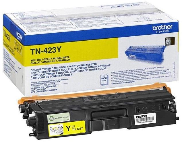 Тонер-картридж TN-423Y тонер картридж tn 320y