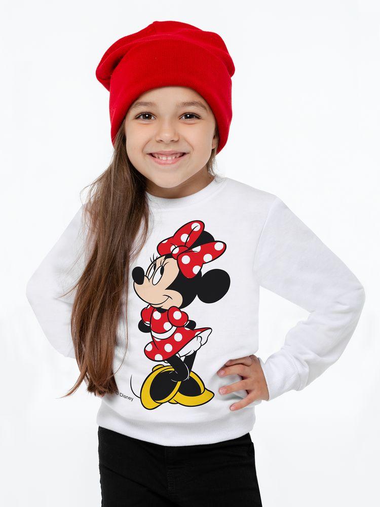 Свитшот детский «Минни Маус. Jolly Girl», белый, 8 лет свитшот детский минни маус so happy белый 4 года 96 104 см