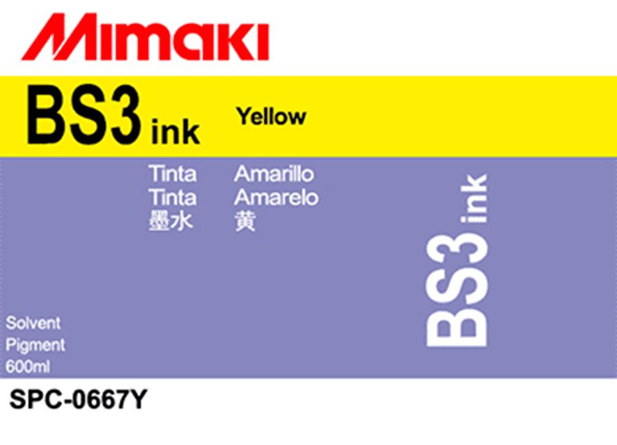 Фото - Чернила сольвентные BS3 Yellow, 600 мл чернила mimaki lf 140 spc 0728y yellow
