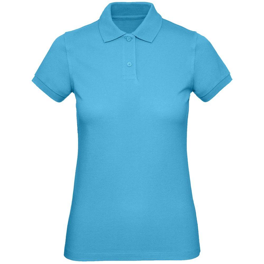 Рубашка поло женская Inspire бирюзовая, размер S рубашка женская levi s® ultimate boyfriend цвет черный 5893700250 размер s 44