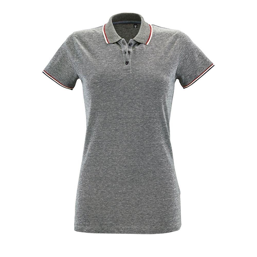 Рубашка поло женская PANAME WOMEN черный меланж, размер S рубашка женская levi s® ultimate boyfriend цвет черный 5893700250 размер s 44
