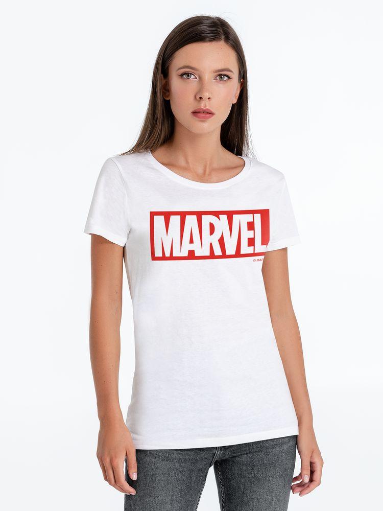 Фото - Футболка женская Marvel, белая, размер S футболка женская ван пиг белый размер s