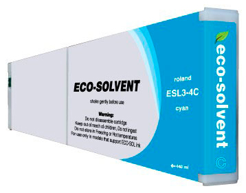 ECO-Solvent Cyan 440 мл (ESL3-4CY) eco solvent printer dx5 double capping station system for galaxy with 2 original