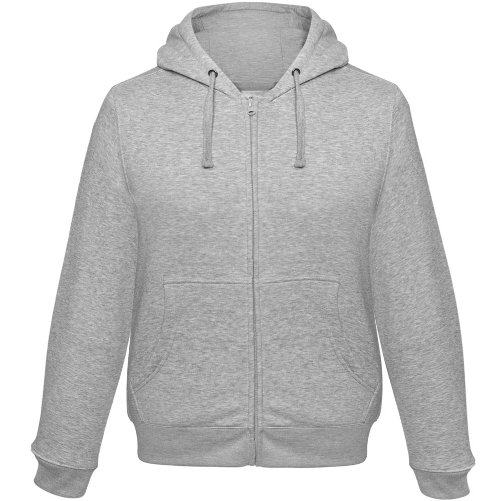 цена Толстовка мужская Hooded Full Zip серый меланж, размер XL онлайн в 2017 году