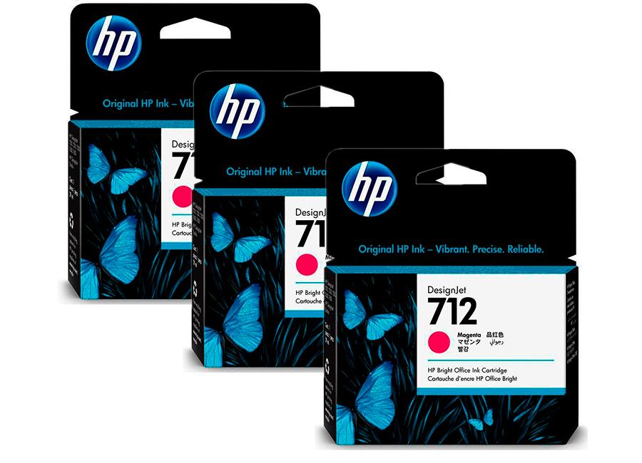 Фото - Набор картриджей HP DesignJet 712 Magenta 3x29 мл (3ED78A) hp designjet studio 24 5hb12a