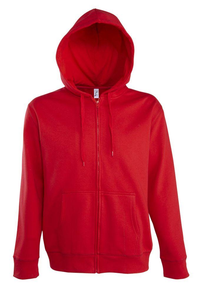 Толстовка мужская на молнии с капюшоном Seven Men, красная, размер XXL