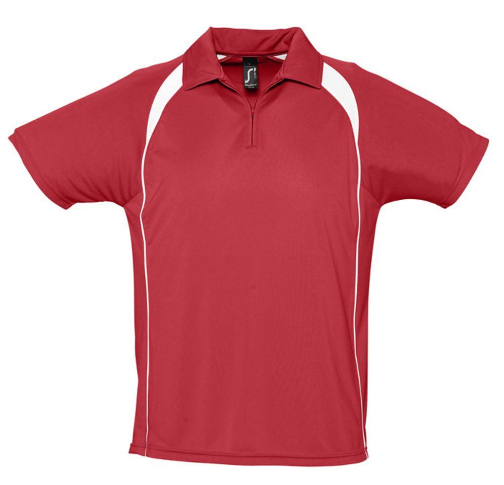 Спортивная рубашка поло Palladium 140 красная с белым, размер M фото