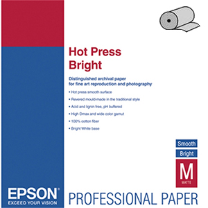 Epson Fine Art Paper Hot Press Bright 17 300 г/м2, 0.432x15 м, 76 мм (C13S042333)