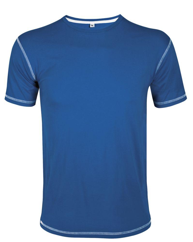 Футболка мужская с контрастной отделкой MUSTANG 150, ярко-синий/белый, размер XL футболка mustang 1005438 2020