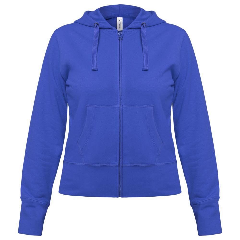 Толстовка женская Hooded Full Zip ярко-синяя, размер M недорого