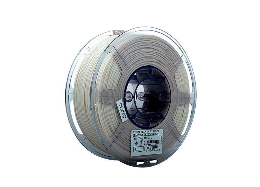 Катушка PLA-пластика ESUN 1.75 мм, 1 кг, светящаяся зелёная катушка pla пластика premium 1 75 мм 1 кг полупрозрачная оранжевая