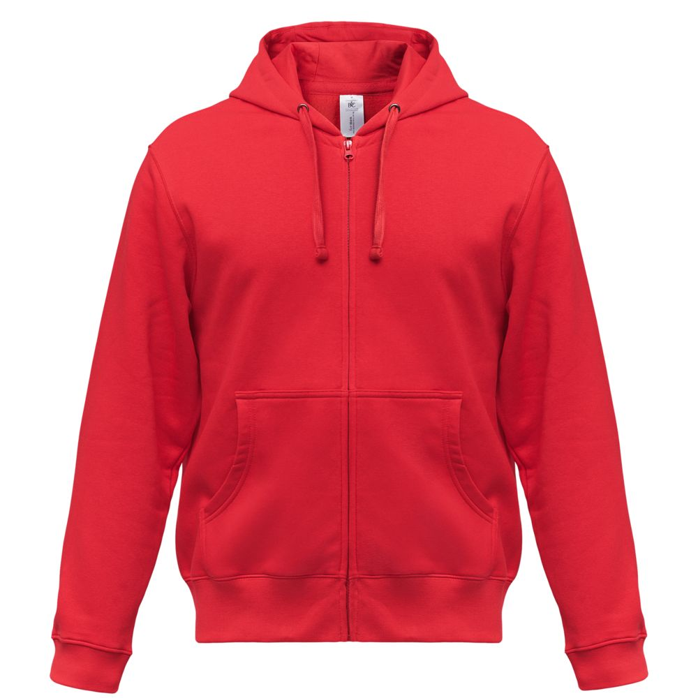 цена Толстовка мужская Hooded Full Zip красная, размер XL онлайн в 2017 году