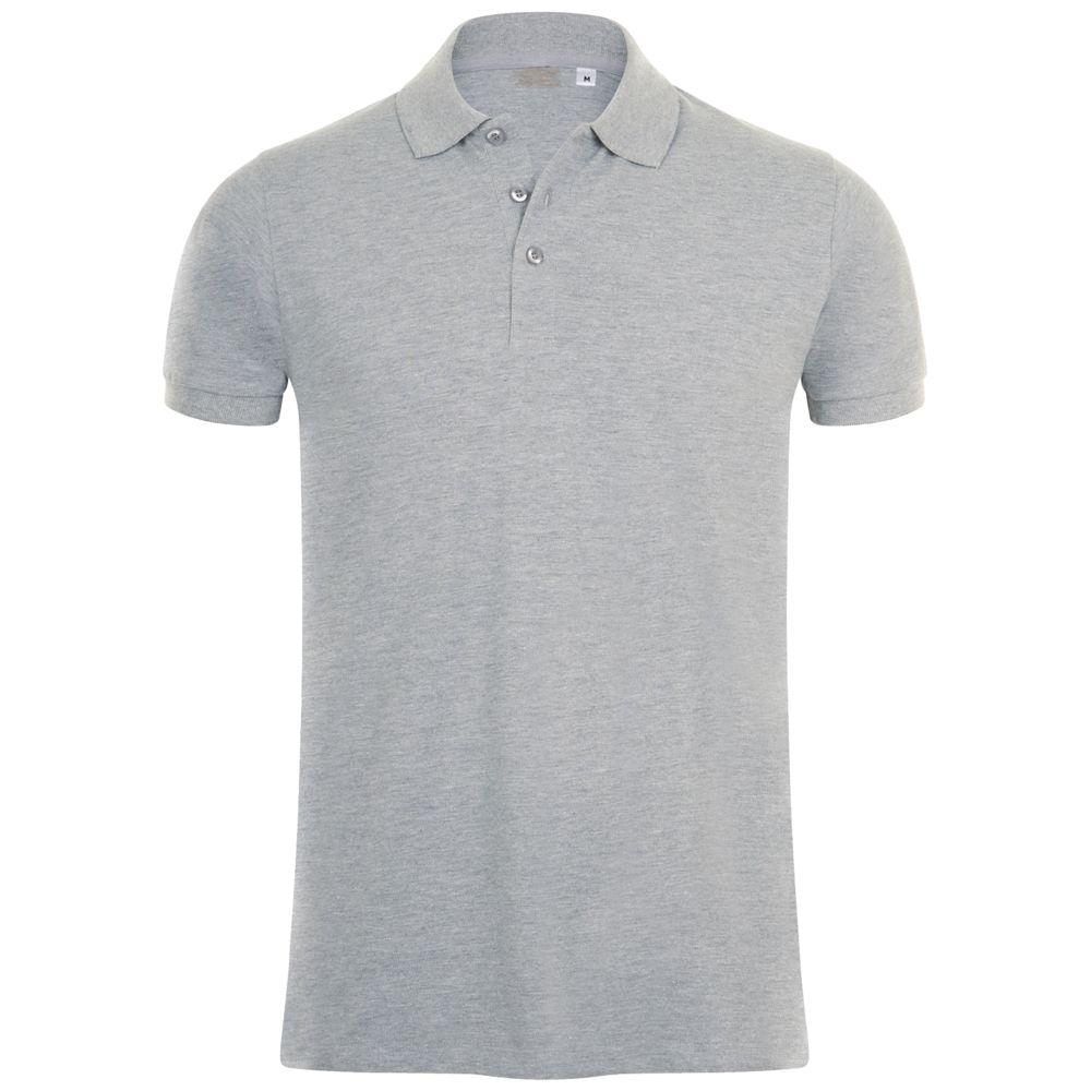 Рубашка поло мужская PHOENIX MEN серый меланж, размер S фото