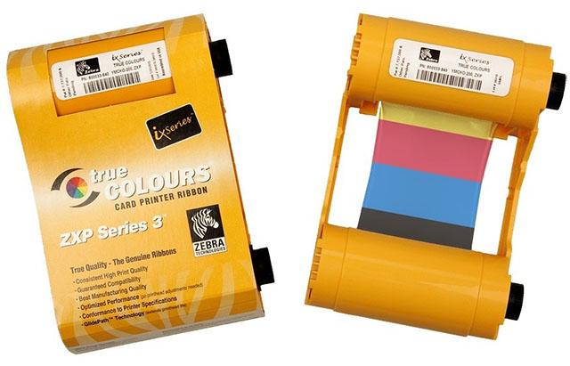 Фото - Полноцветный картридж Zebra YMCKO 800033-840 монохромная черная лента zebra kdo used 800033 350