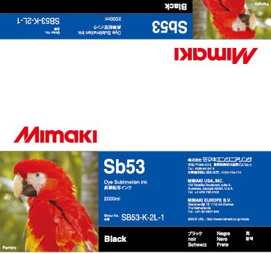Чернила SB53 Black mimaki jv33 sb53 permanent chip for mimaki jv33 sb53 printer