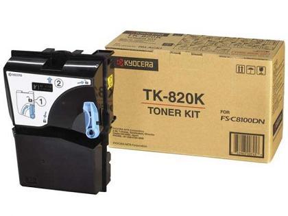 Тонер-картридж TK-820K картридж kyocera tk 820k для fs c8100dn черный 15000стр