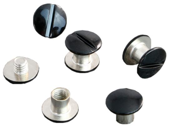 Фото - Болты металлические высота ножки 3.5 мм, черный лак, 100 шт. лак