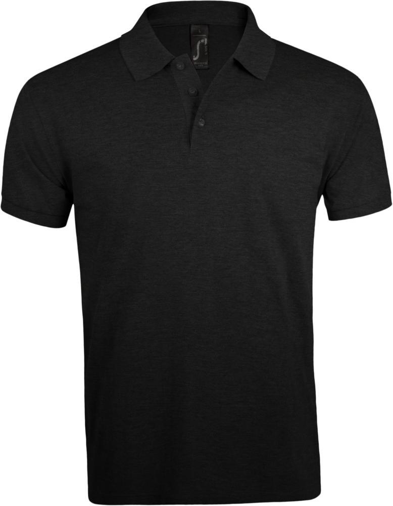 Рубашка поло мужская PRIME MEN 200 черная, размер 4XL рубашка поло мужская sunset черная размер 4xl