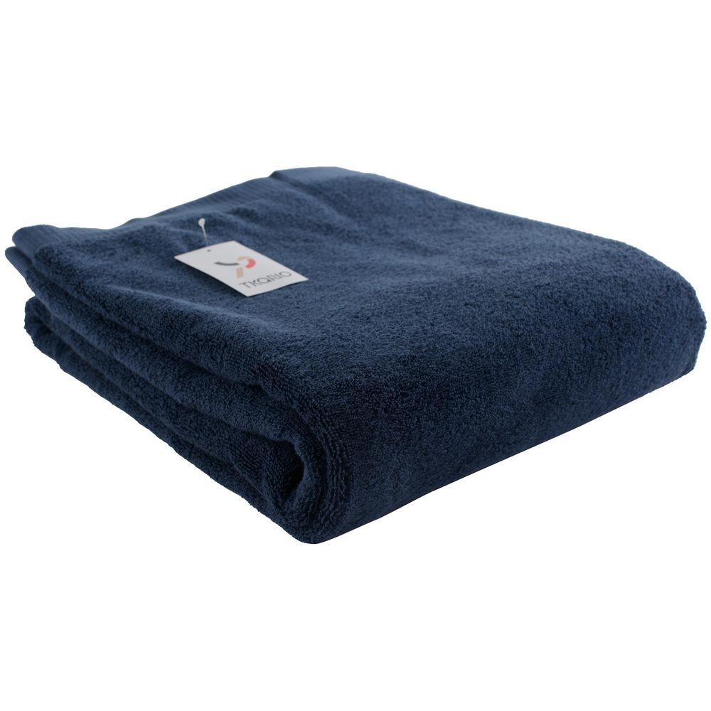 Полотенце Essential, большое, темно-синее фото