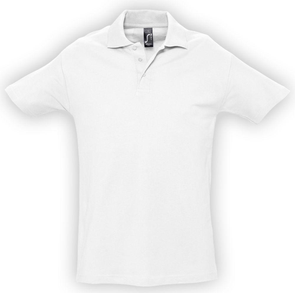 Рубашка поло мужская SPRING 210 белая, размер 5XL