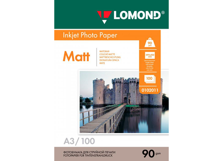Фото - Lomond для струйной печати, A3, 90 г/м2, 100 листов, односторонняя, матовая (0102011) бумага lomond 0102005 photo матовая 1стор