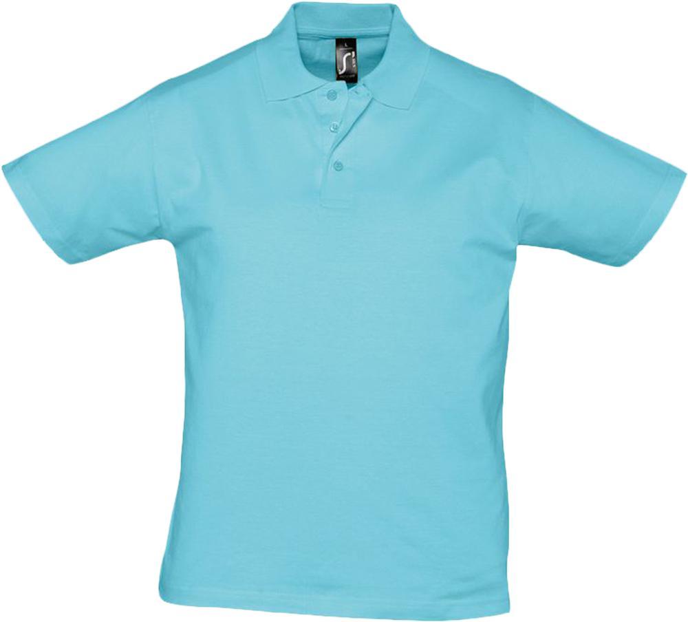 Рубашка поло мужская Prescott men 170 бирюзовая, размер XXL фото