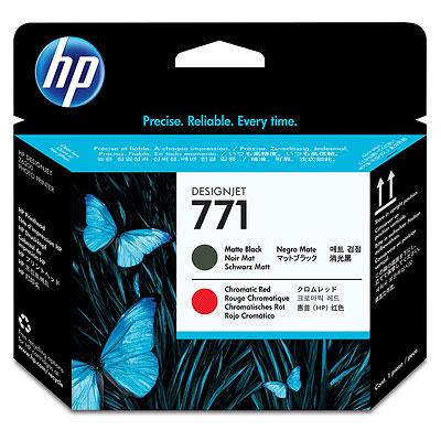 Печатающая головка HP №771 Designjet Matte Black & Chromatic Red (CE017A) печатающая головка hp n771 ce017a