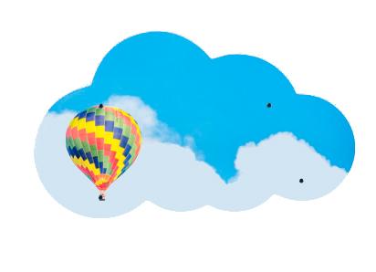 Купить Стеклянная магнитно-маркерная доска, ASKELL Cloud 90х52 см