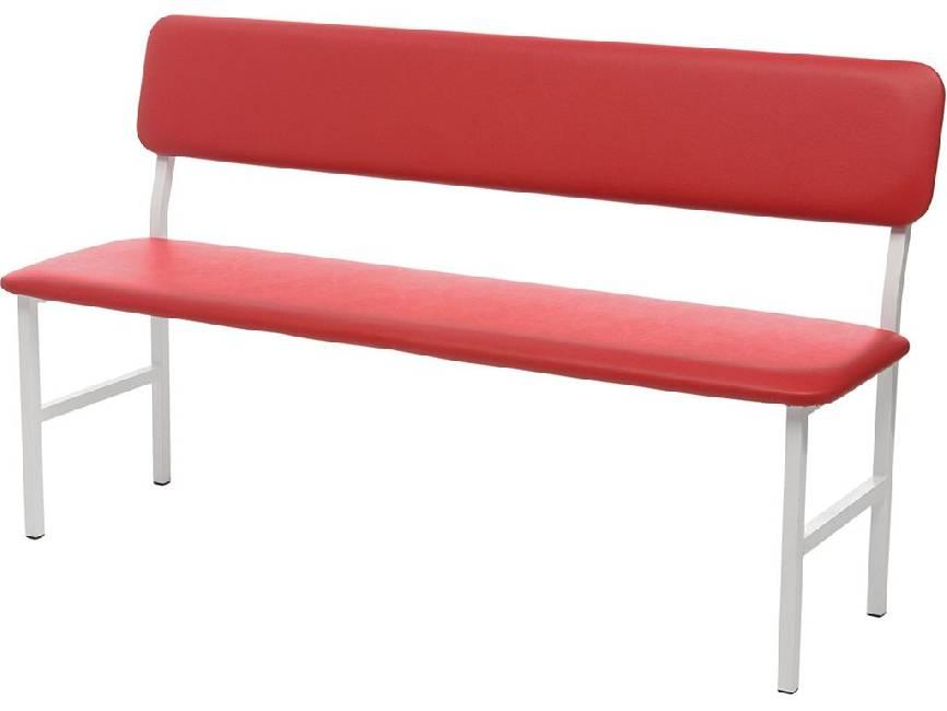 Банкетка медицинская со спинкой Hilfe МД БС красная краскопульт пневматический gav 2200 eco 1 8 бс 24547