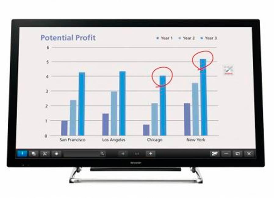 Фото - Интерактивный LCD дисплей Sharp PN-40TC1 интерактивный плоскопанельный дисплей smart vizion dc75 e4 no ops