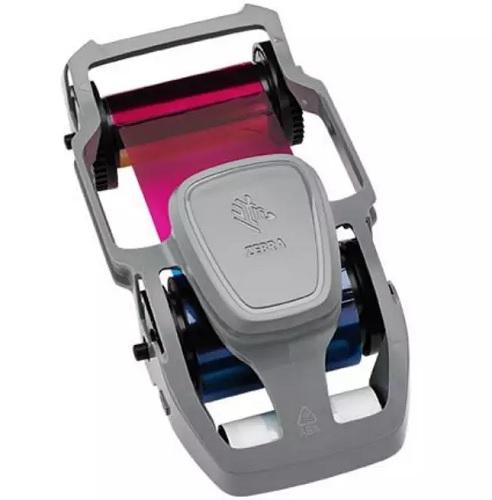 Фото - Полноцветная красящая лента риббон YMCKO 800300-350EM монохромная синяя красящая лента zebra 800300 304