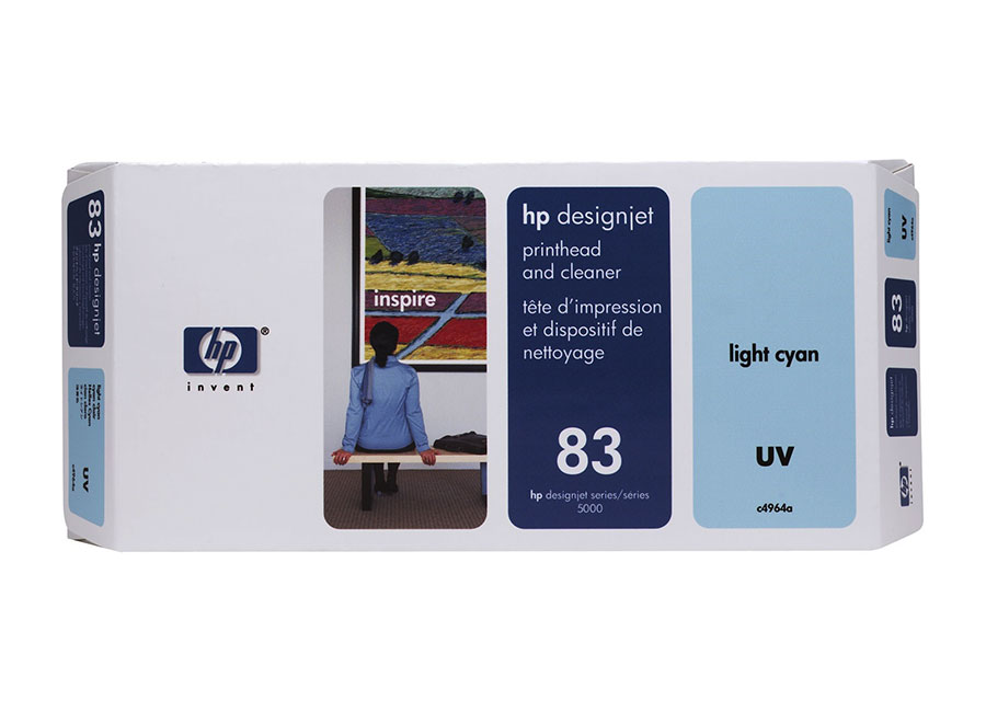 Печатающая головка и чистящая станция HP №83 Light Cyan (C4964A) hot sales 80 printhead for hp80 print head hp for designjet 1000 1000plus 1050 1055 printer