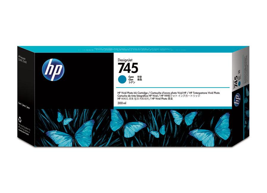 HP DesignJet 745 Cyan 300 мл (F9K03A) hp designjet t830 36 f9a30a