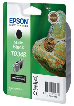 Фото - Картридж с черными матовыми чернилами Epson T0348 для SP2100 (C13T03484010) картридж с голубыми чернилами epson t0342 для sp2100 c13t03424010