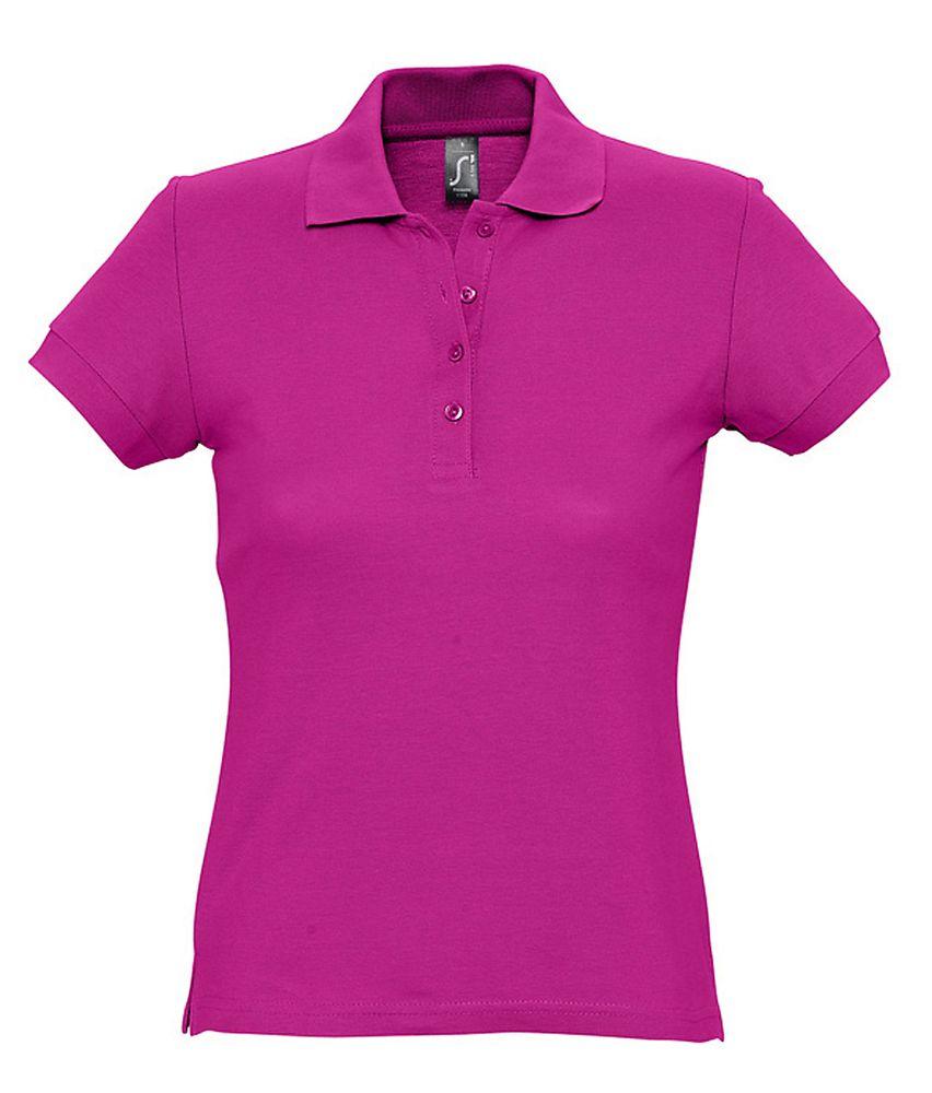 Рубашка поло женская PASSION 170 темно-розовая (фуксия), размер L блузка женская oodji ultra цвет кремовый темно синий 11411098 3 24681 3079g размер 36 42 170