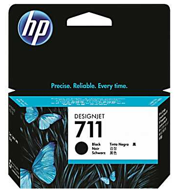 HP DesignJet 711 Black 80 мл (CZ133A) подставка hp 24in stand for designjet t120 t520 b3q35a