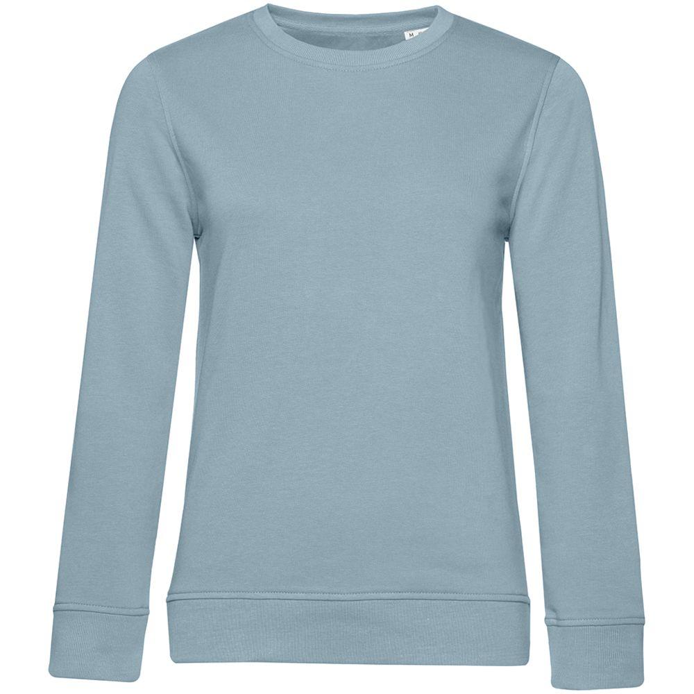 Свитшот женский BNC Organic, серо-голубой, размер L