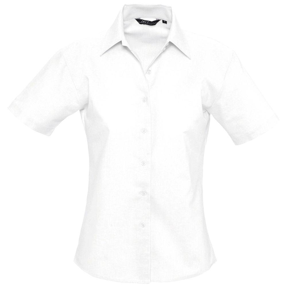 Рубашка женская с коротким рукавом ELITE белая, размер XS блуза с коротким рукавом seventy блузы с коротким рукавом