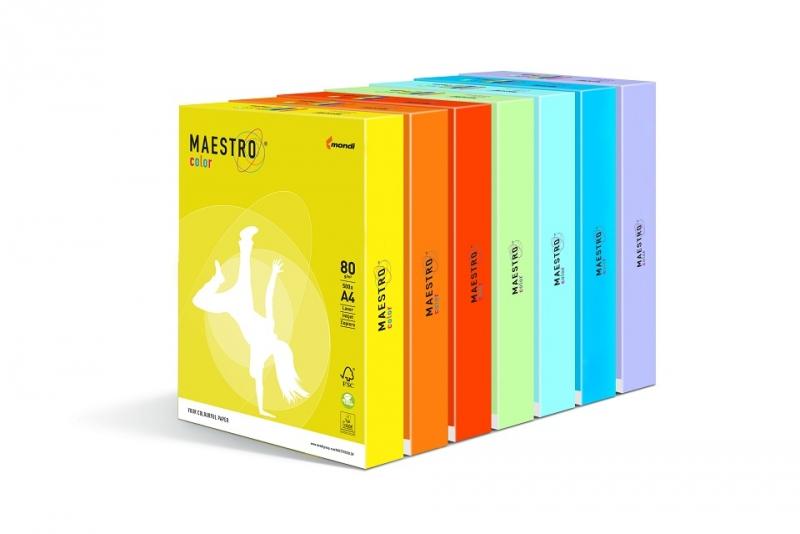 Maestro Color 80 г/м2, 297x420 мм неон color copy 90 г м2 297x420 мм