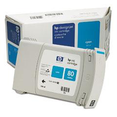 HP DesignJet 80 Cyan 350 мл (C4846A) цена