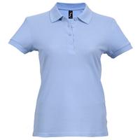 цена Рубашка поло женская PASSION 170 голубая, размер XL онлайн в 2017 году